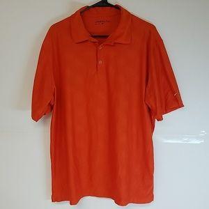 Nike Golf Dri-Fit Polo 3 Button Shirt Orange